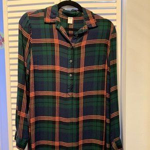 Old Navy Button Down Flannel Tunic Shirt Dress